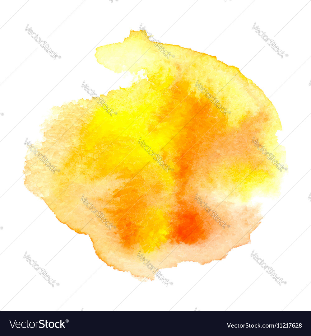 Watercolor orange background vector image