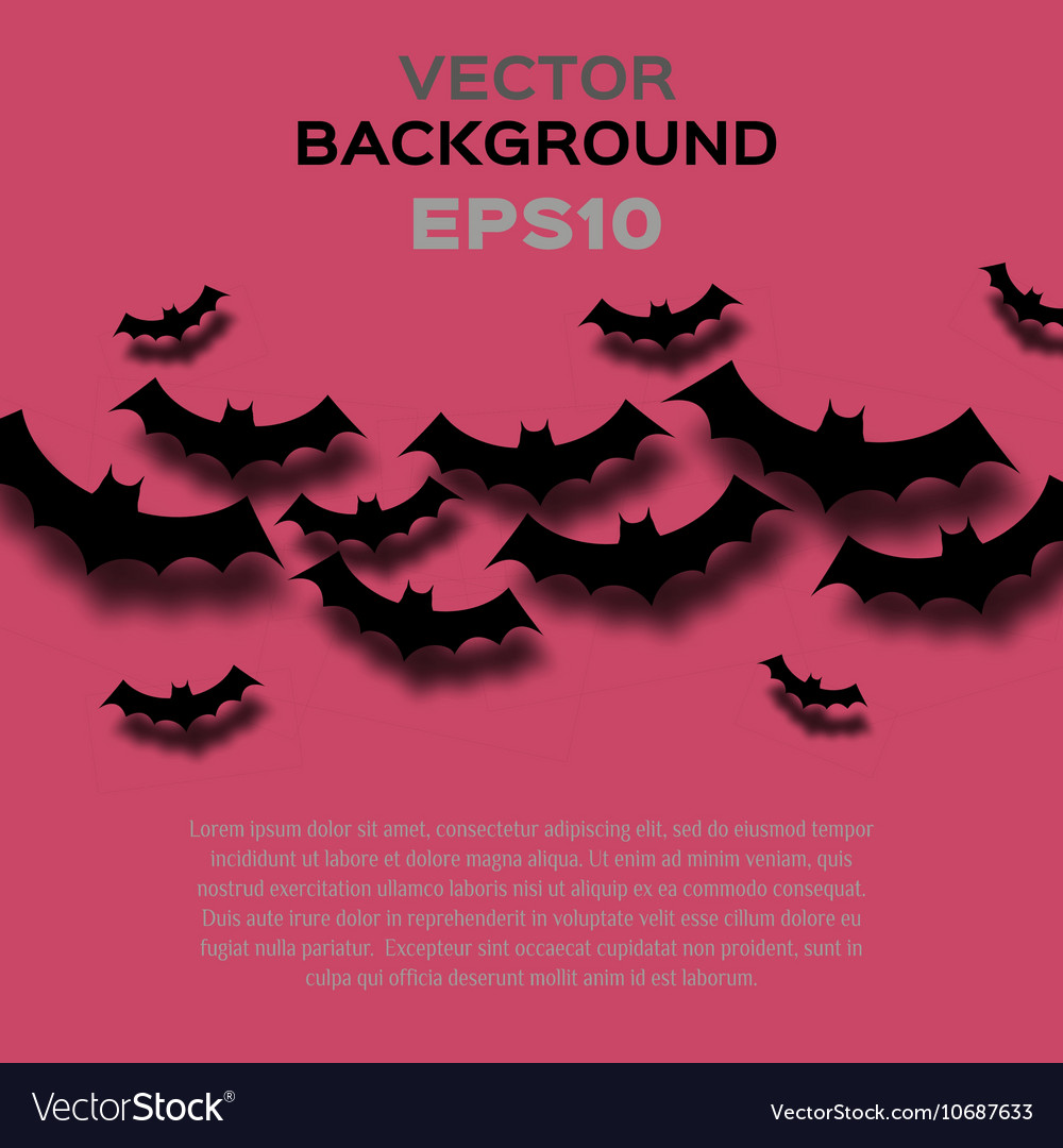 Abstract background with bats Halloween
