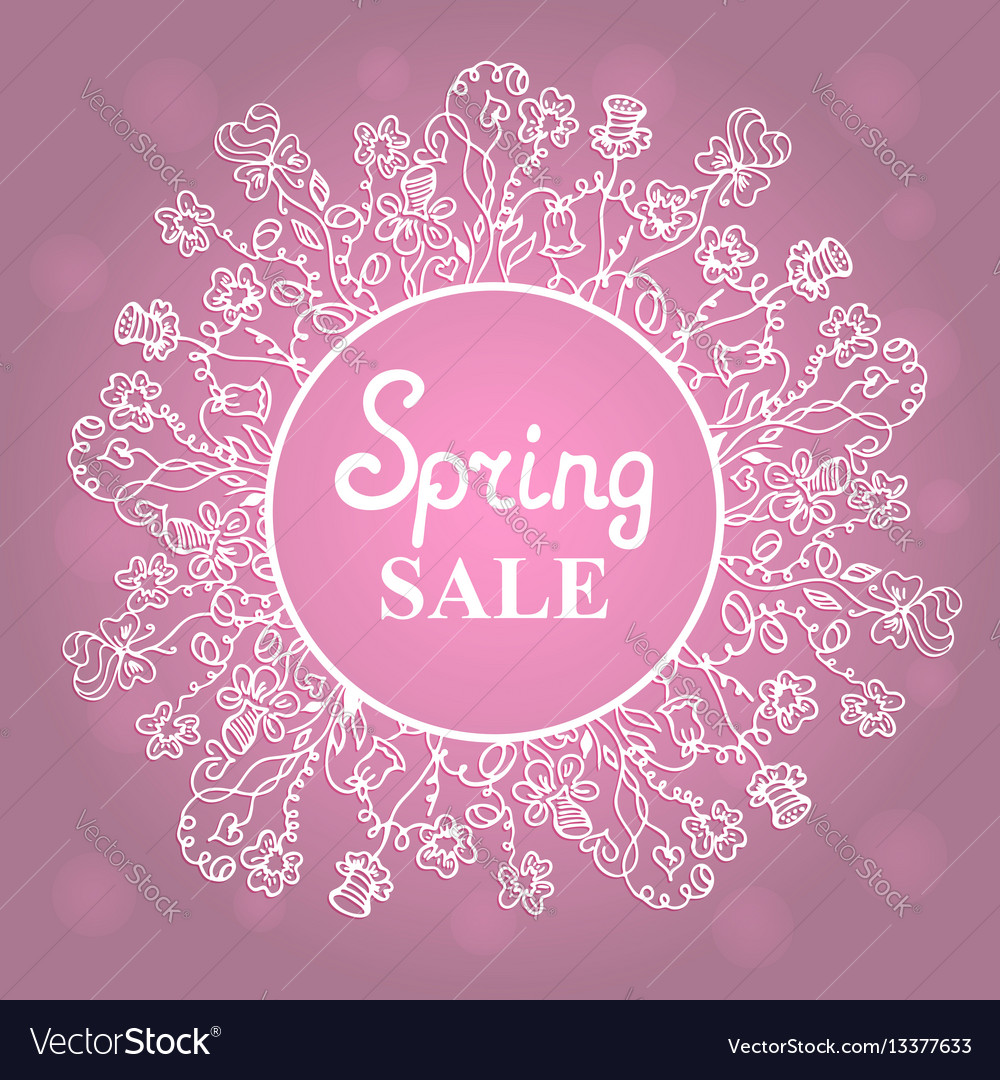 Floral wreath concept design for a spring sale