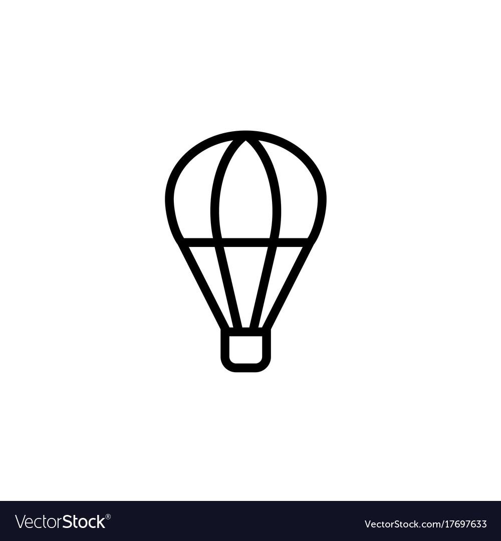 Hot air balloon icon thin line black