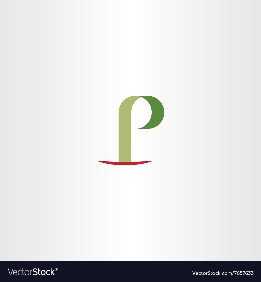 Letter p logo p green icon design