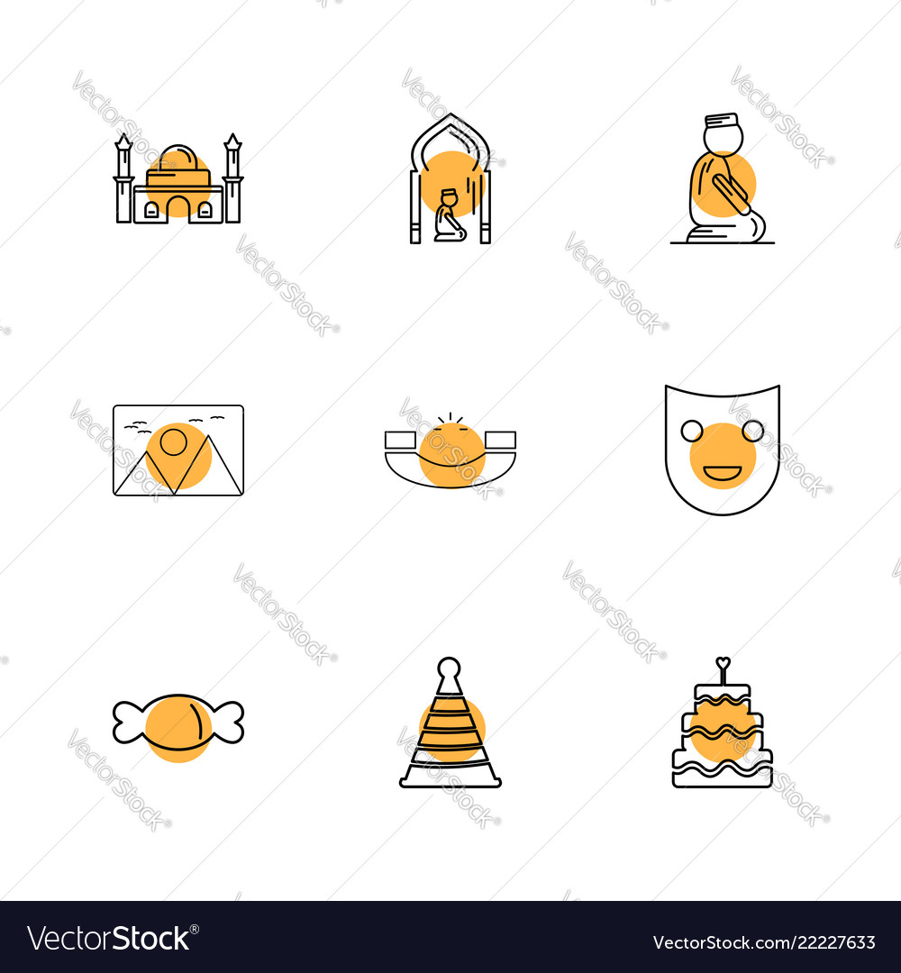 Mosque prayer muslim card scenery call mask vector image on VectorStock
