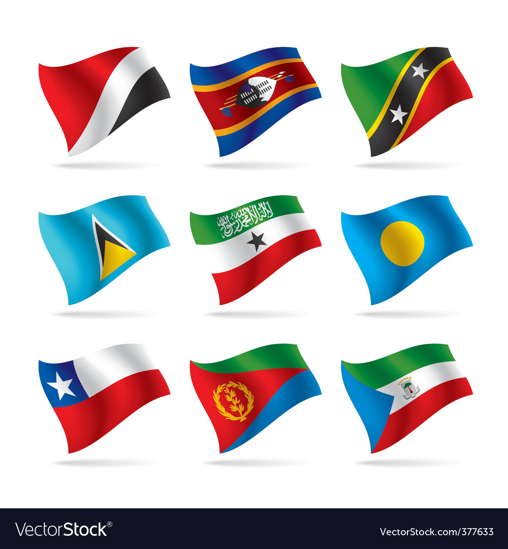 Set of world flags 14