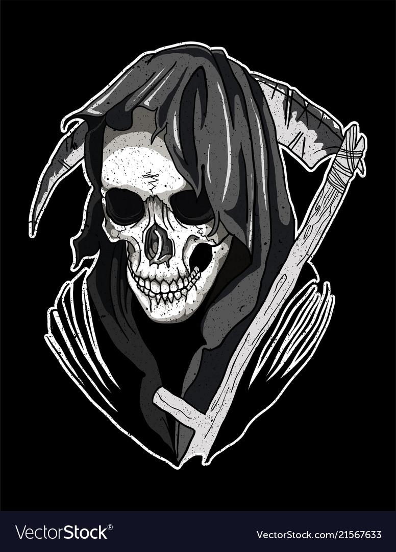 Skull santa muerte Royalty Free Vector Image - VectorStock