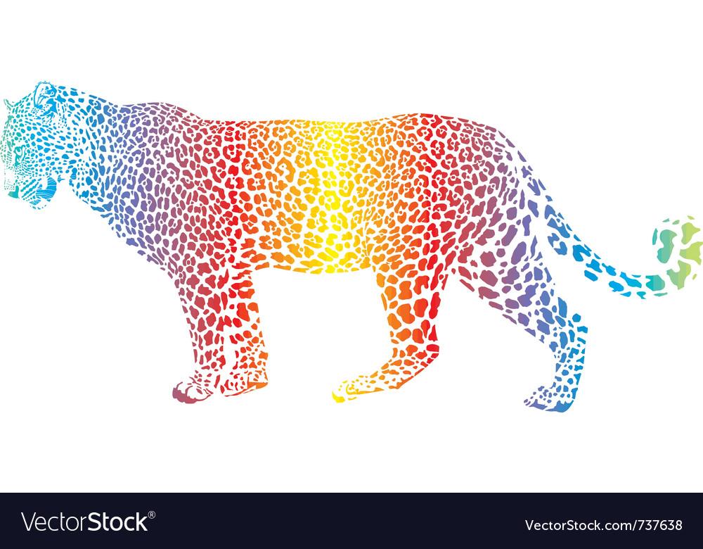 Abstract rainbow leopard