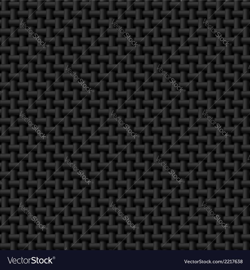 Black cloth texture vector image
