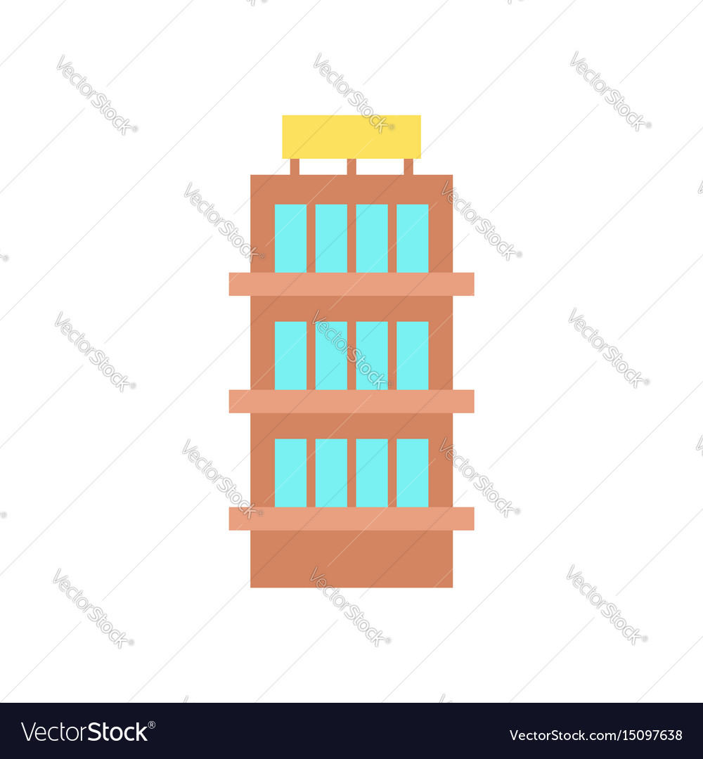 Building house and architecture object business vector image