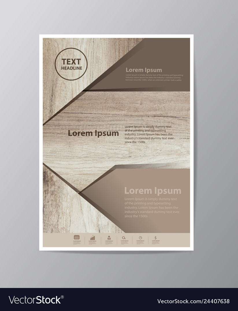 Business brochure flyer design layout template in