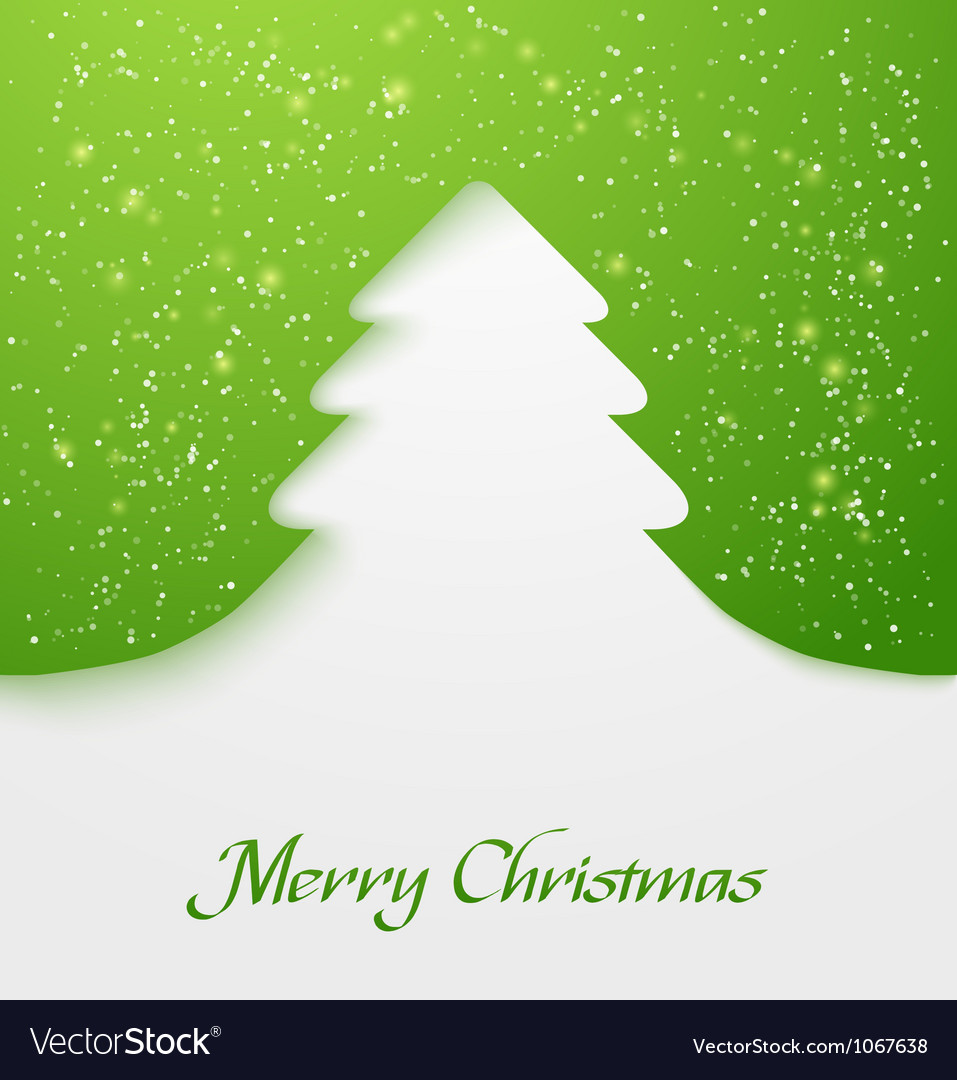 Green christmas tree applique