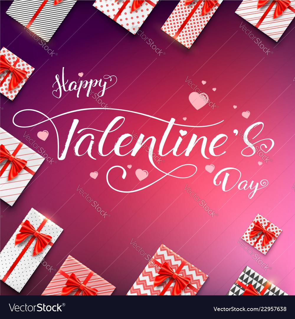 Happy valentines day calligraphic handwritten