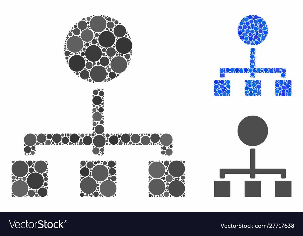 Hierarchy mosaic icon circles