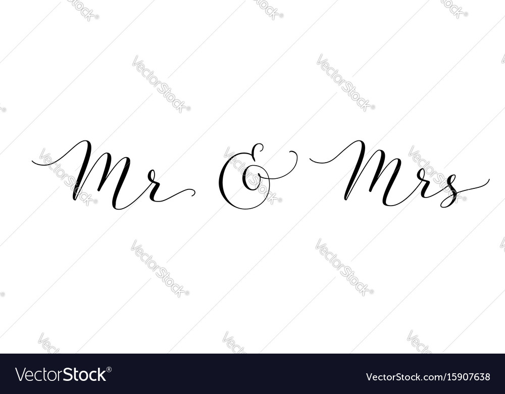Mr and mrs words with ampersand mister and missis