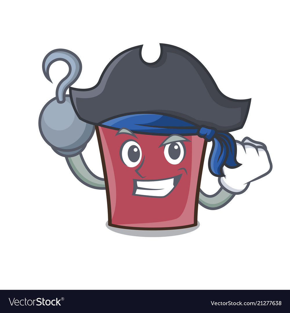 Pirate hot chocolate character cartoon