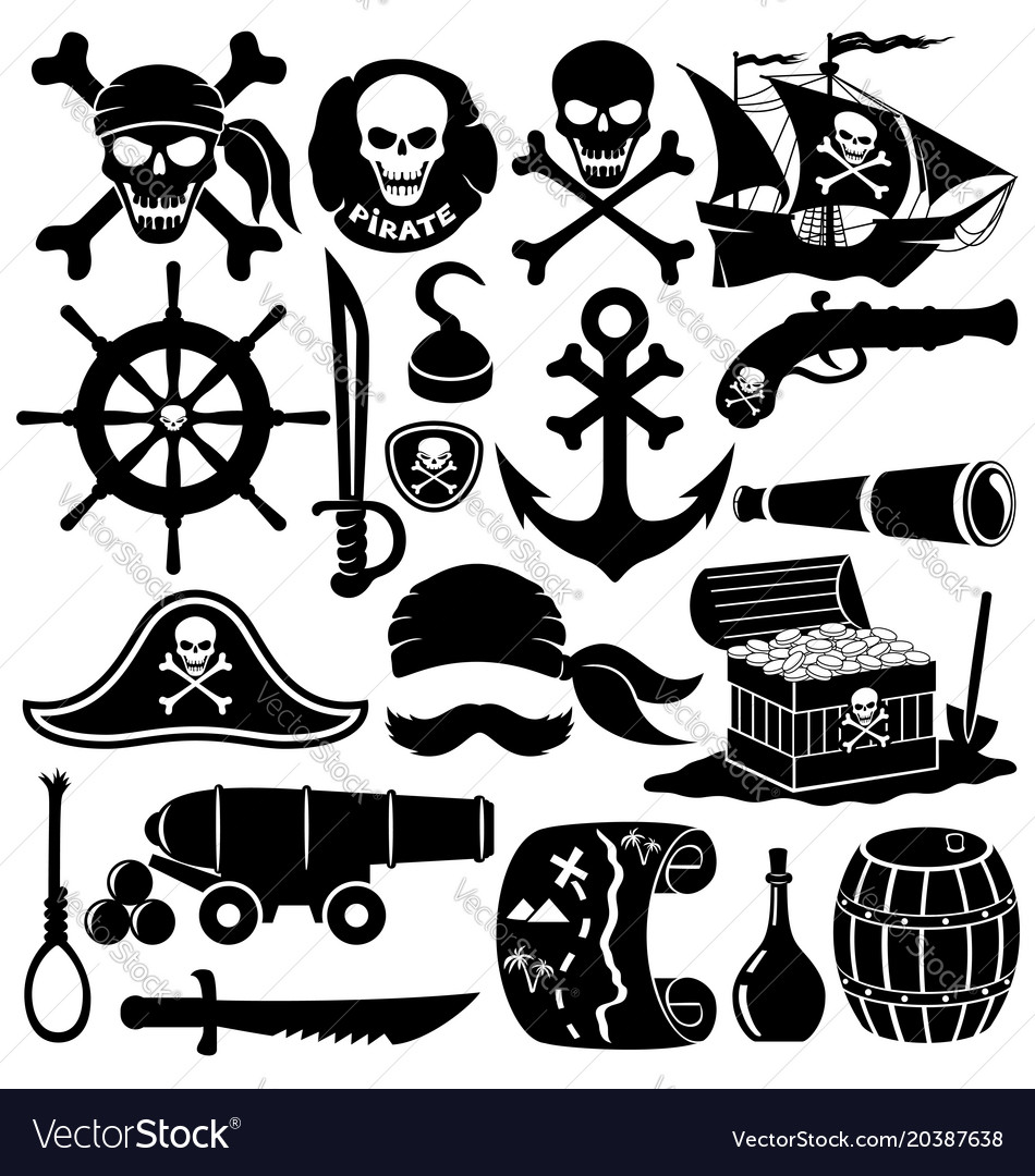Set of pirate icons
