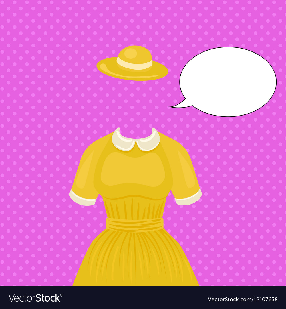 Woman dress with hat temlate without head