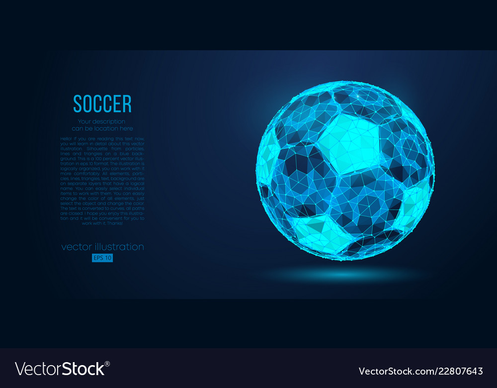 Abstract silhouette of a soccer ball football