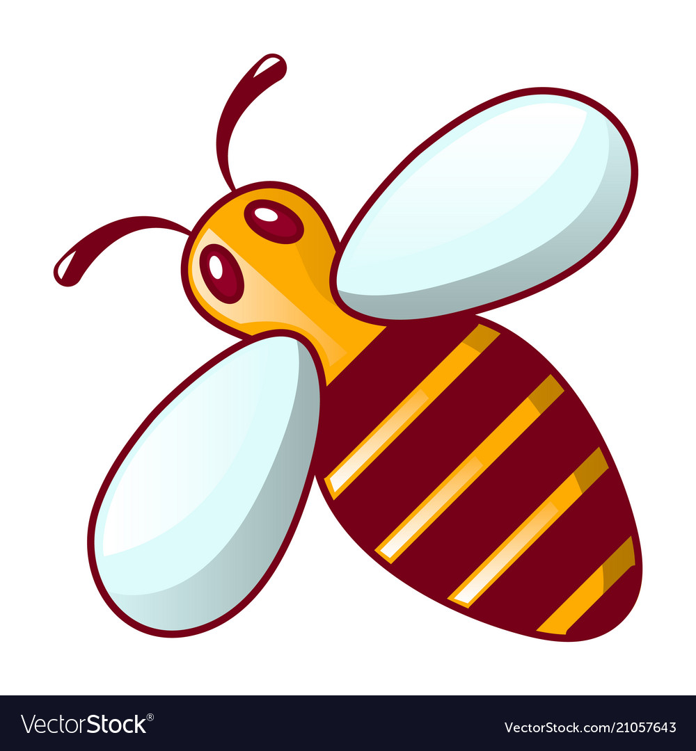 Bee icon cartoon style
