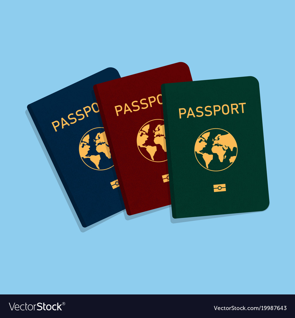 Covers of passports of different colors