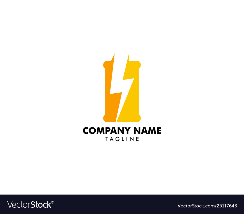 Energy drink logo design template negative space