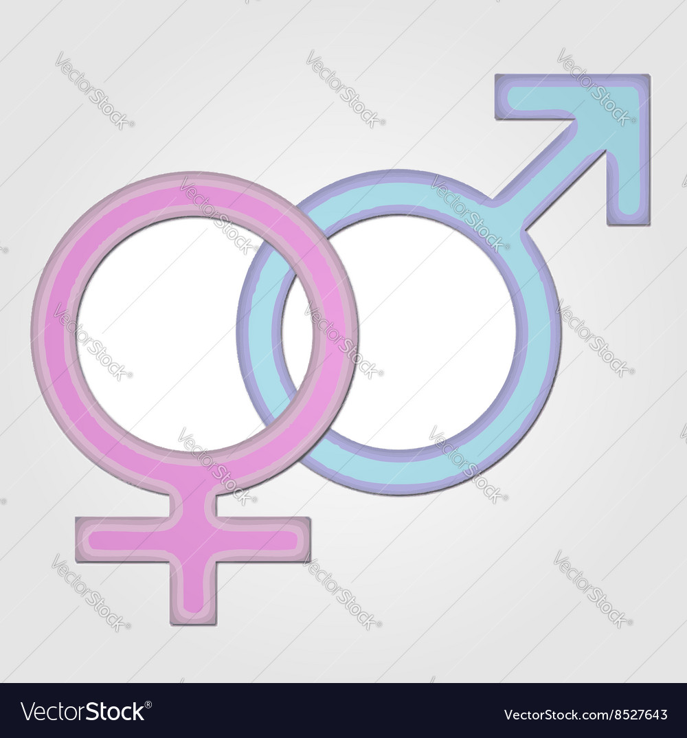 Gender Symbol Girl And Boy Royalty Free Vector Image
