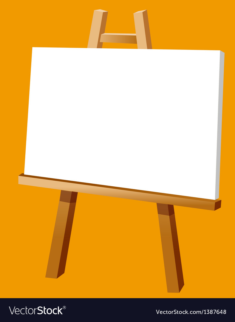A View Of An Easel Royalty Free Vector Image Vectorstock