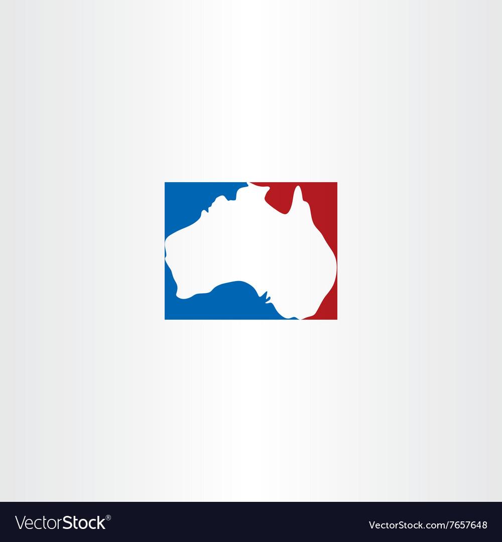 Australia logo map icon