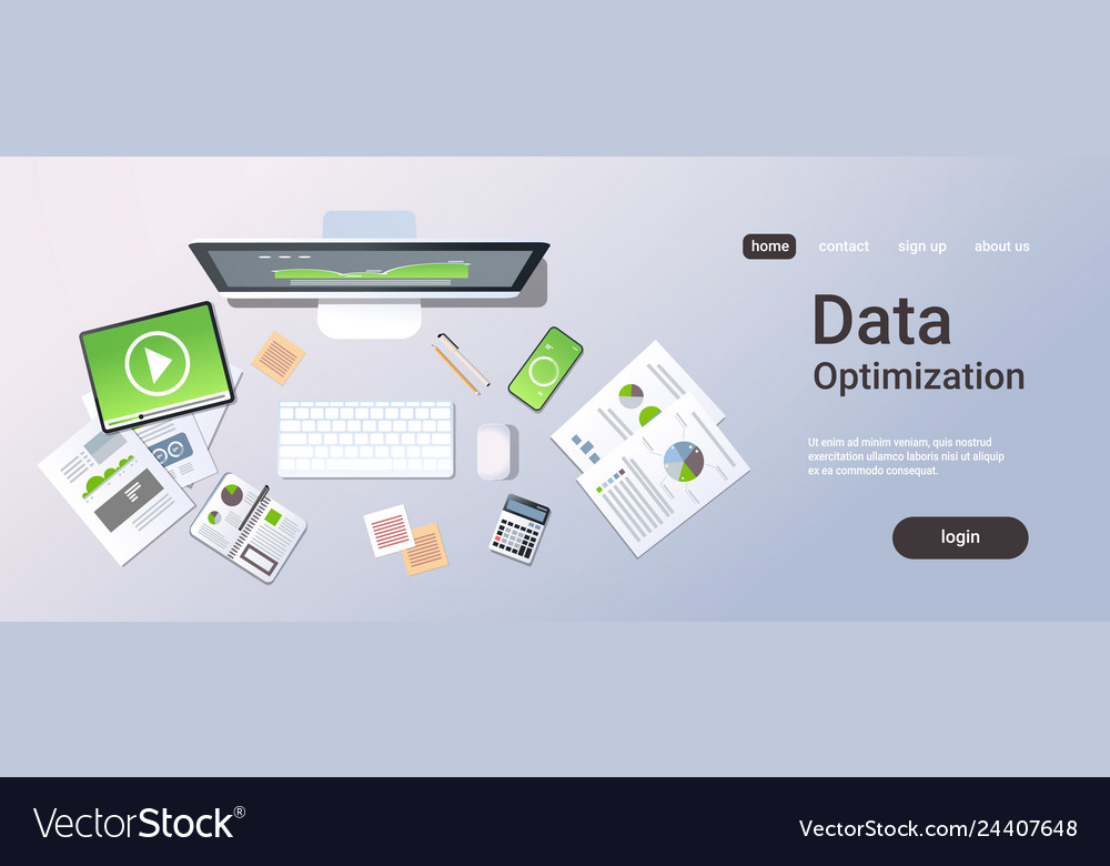 Business analytics data optimization concept top