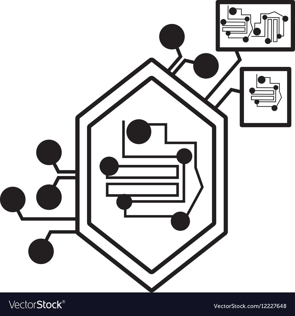 Computer circuit hexagon electronic component