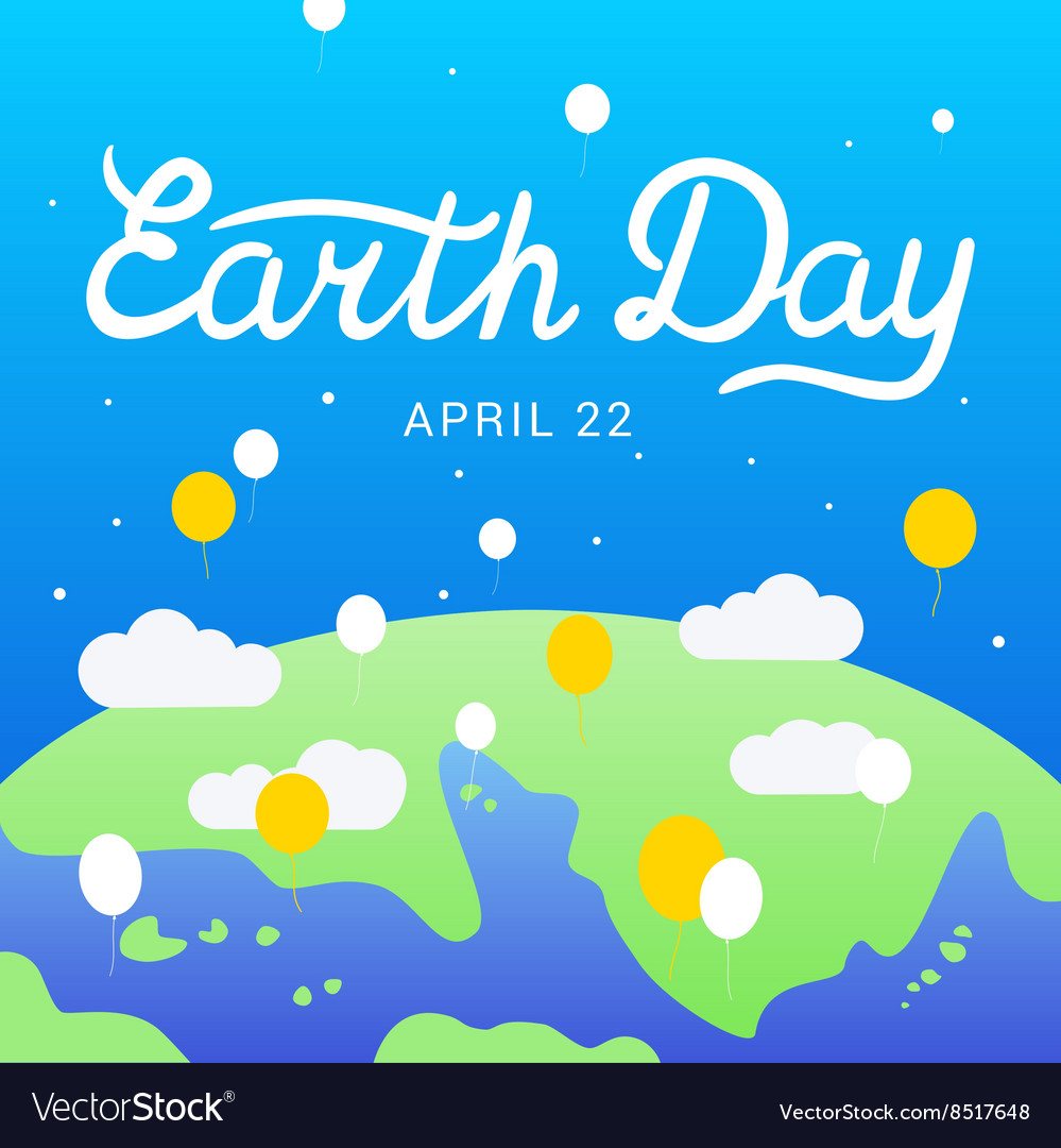 Earth Day lettering calligraphy 22 april