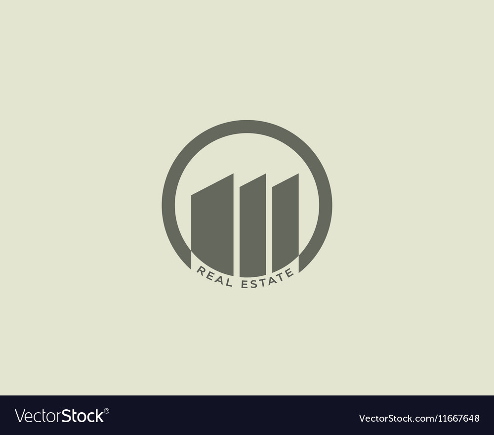 House building logo design Construction realty vector image