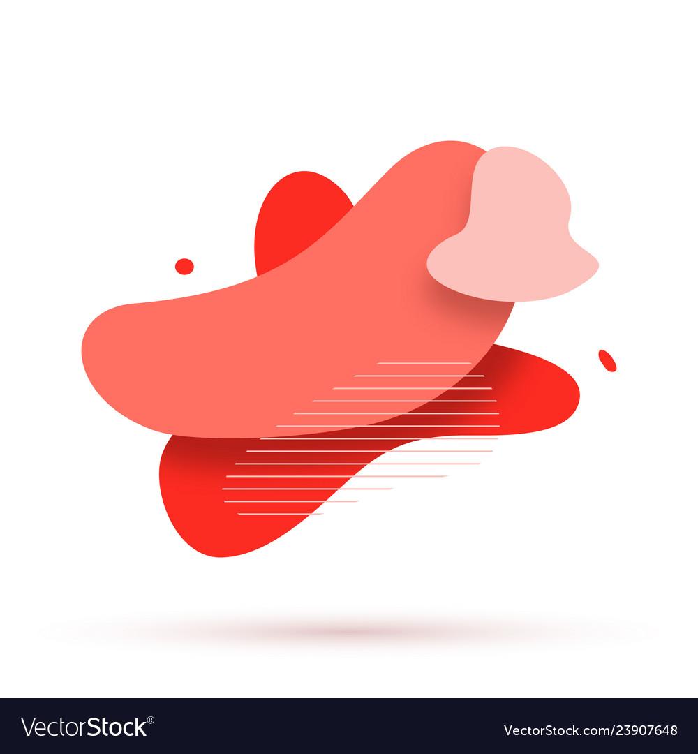 Set of abstract liquid shape