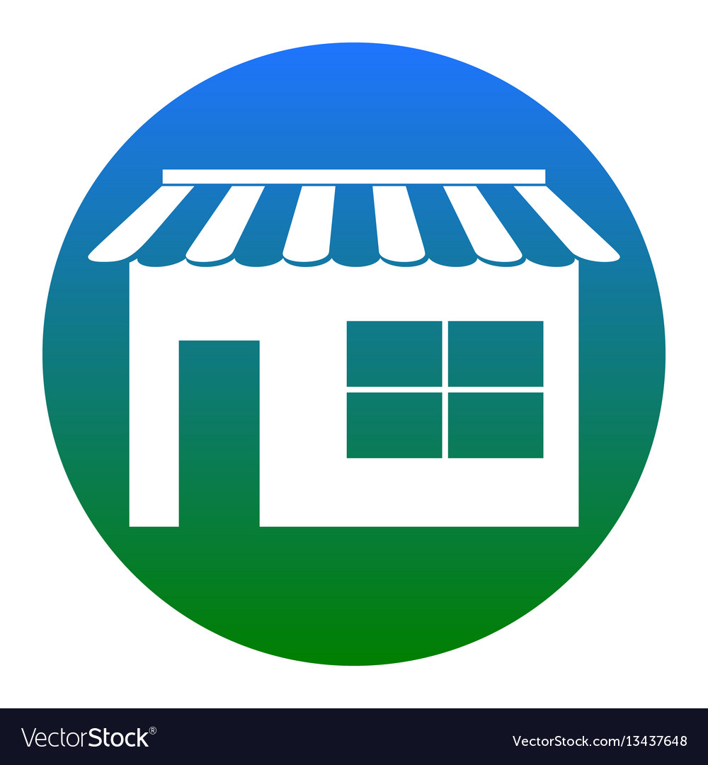 Store sign white icon in