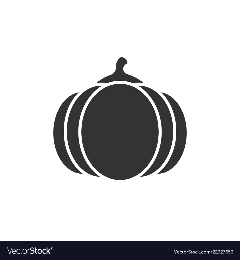 Pumpkin black icon