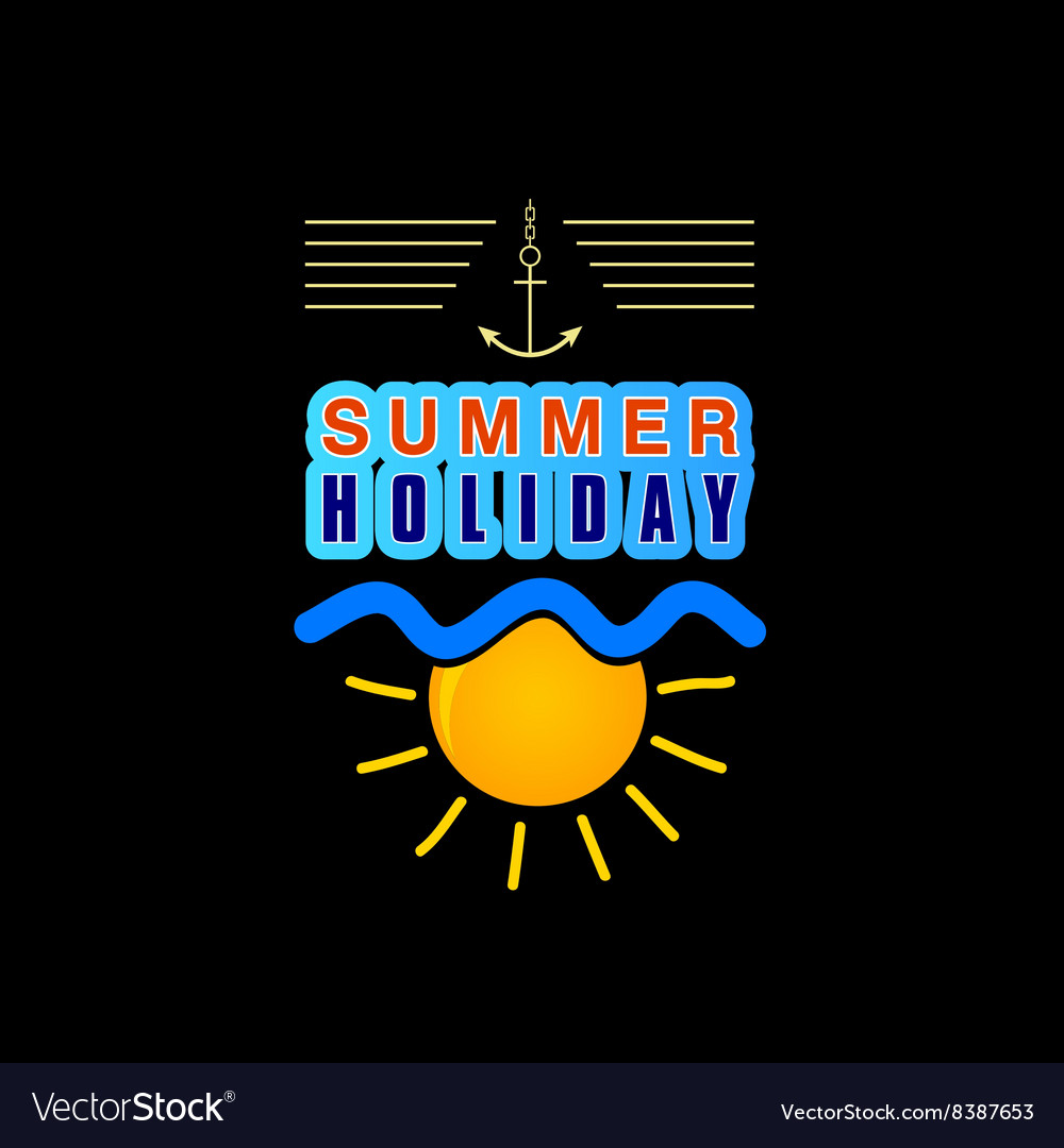 Summer holiday icon