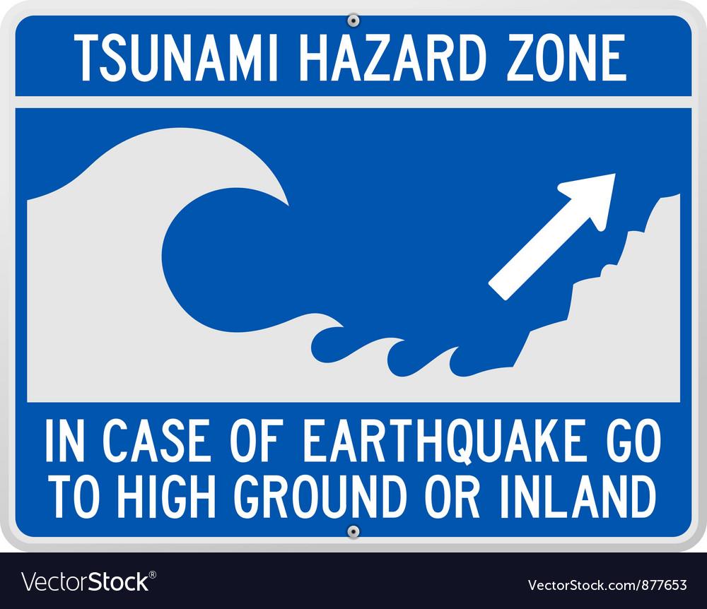 Tsunami Danger Sign vector image