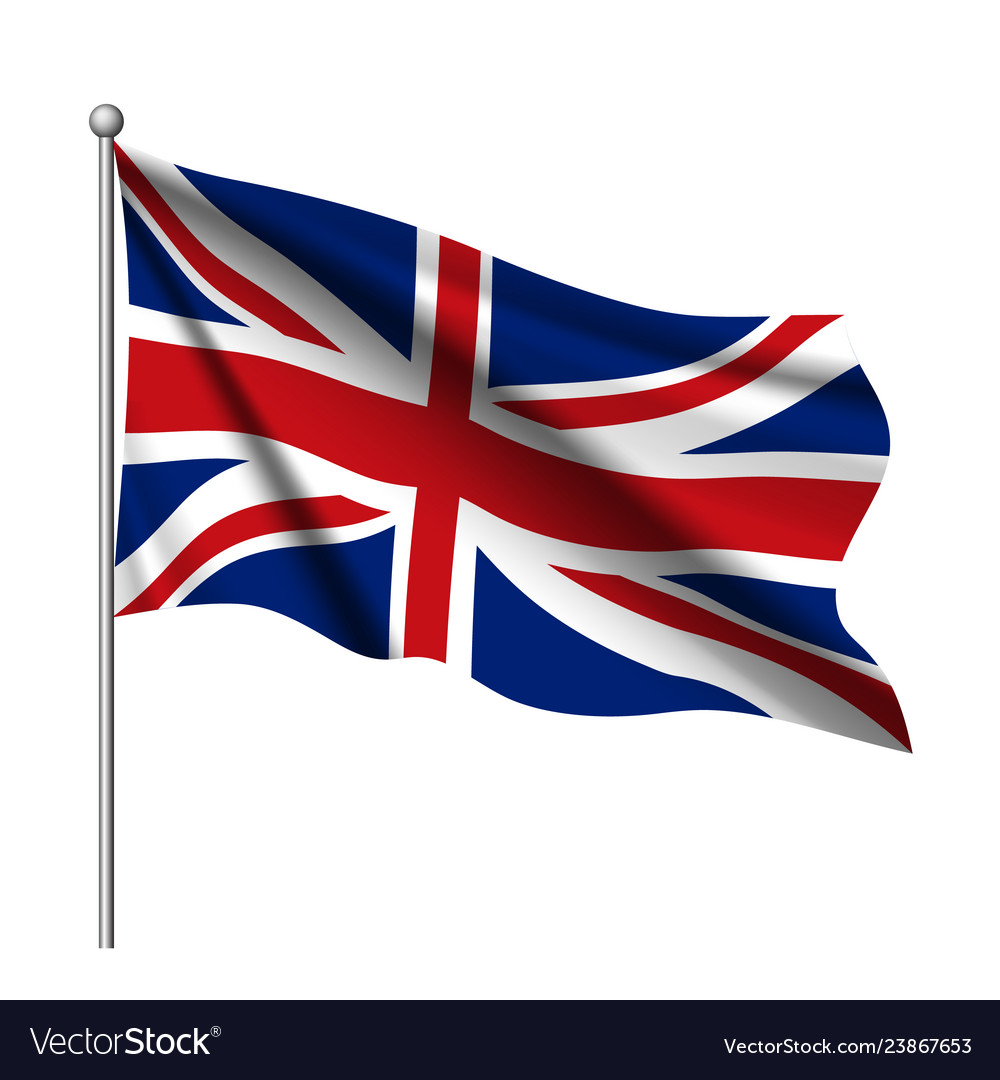 Waving flag united kingdom state