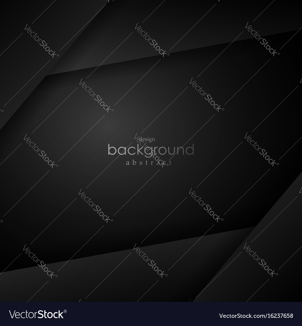 Black layer background with black space for text
