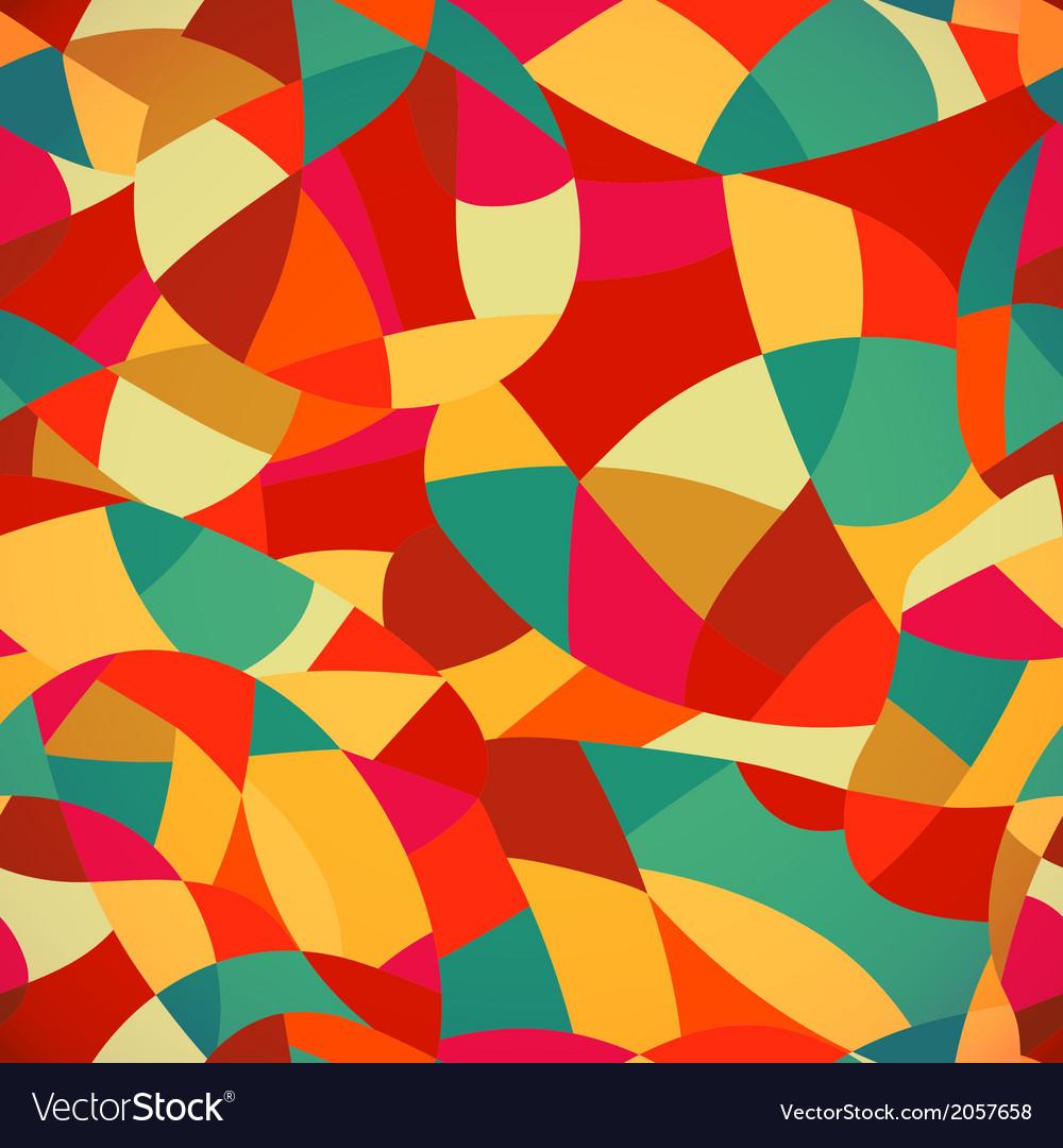Bright colors mosaic seamless pattern looks