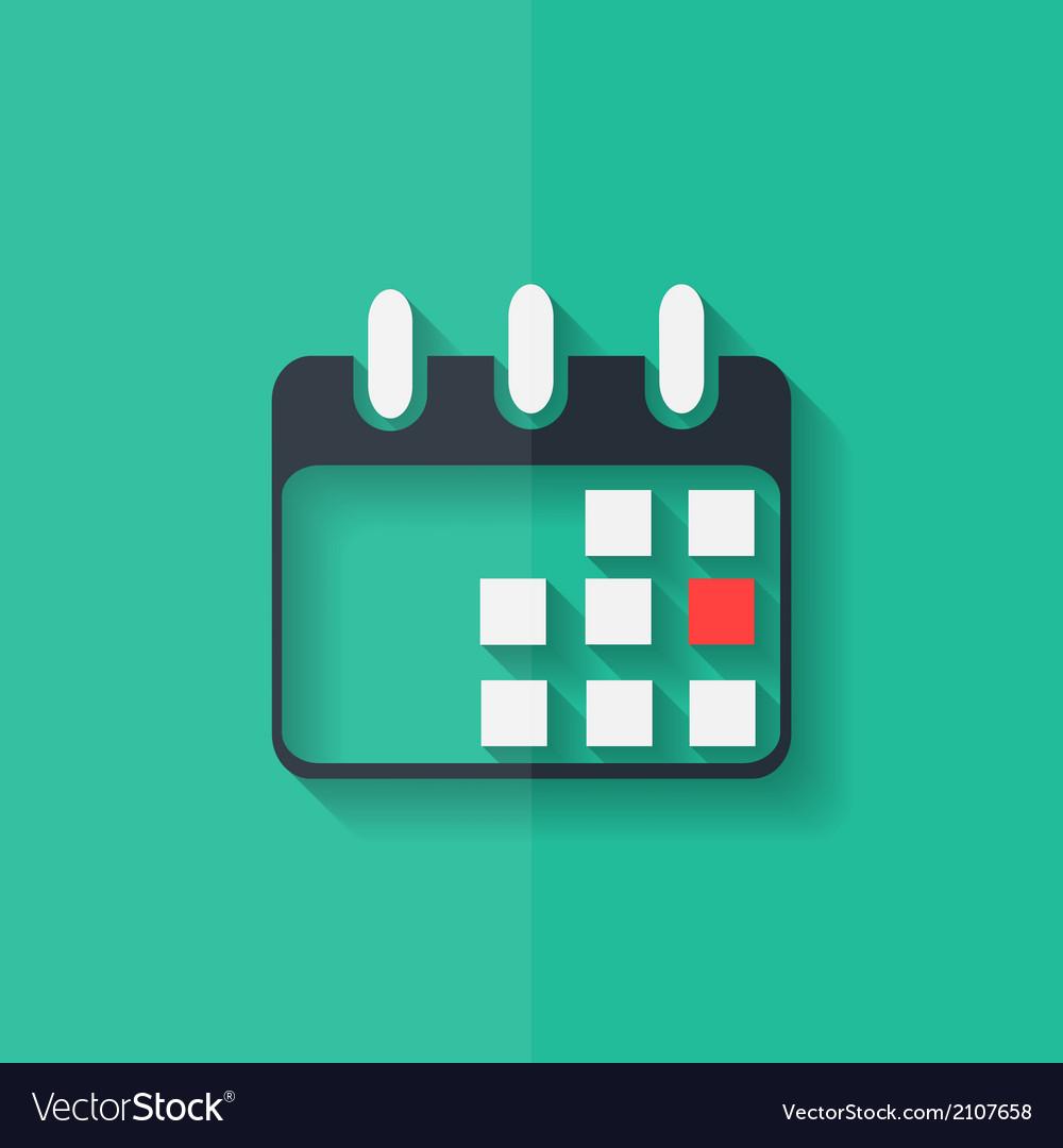 Calendar Organizer Icon Date Symbol Flat Design Vector Image