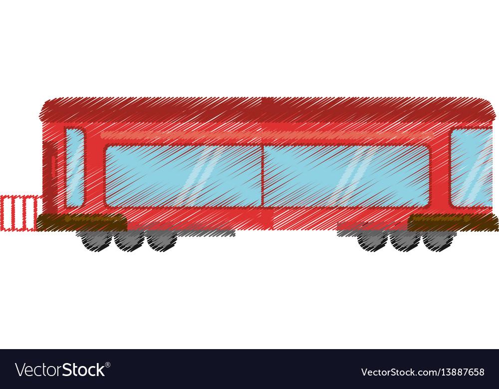 Drawing drawing train wagon rail