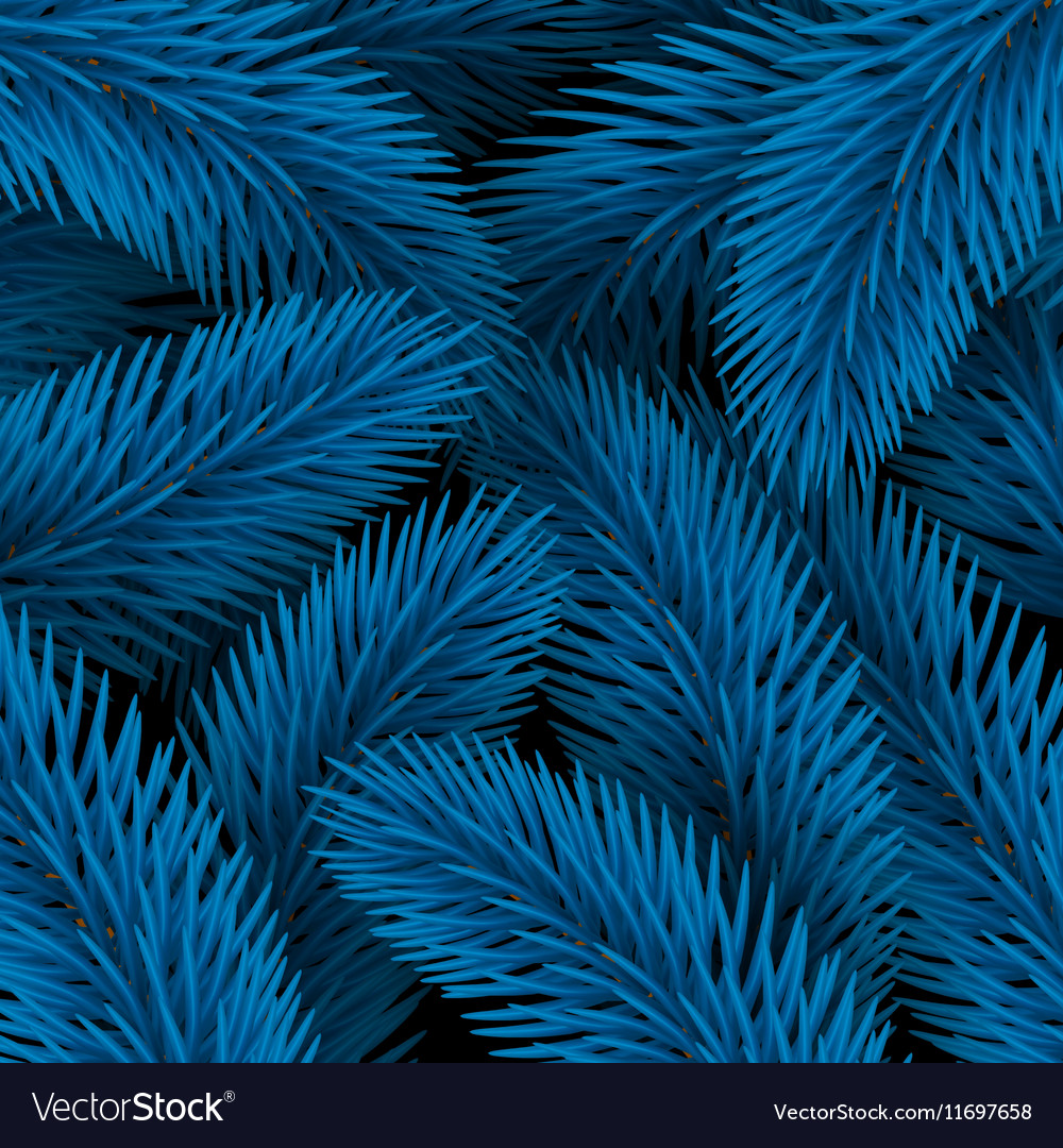 Elegant Christmas background Blue with fir vector image