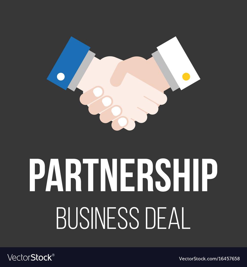 Handshake icon partnership
