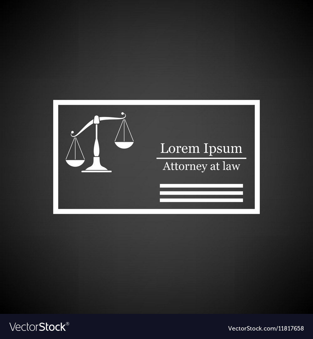 Lawyer Business Card Icon Royalty Free Vector Image