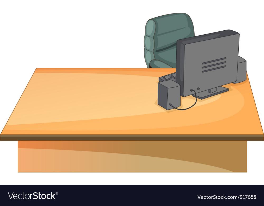 Office desk vector image