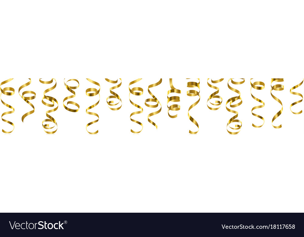 Serpentine streamers border vector image