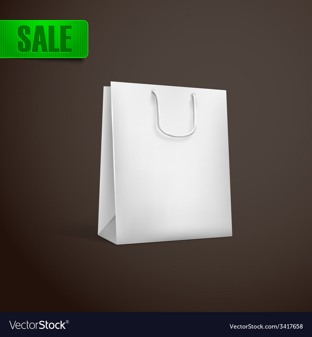 White shopping bag mock-up