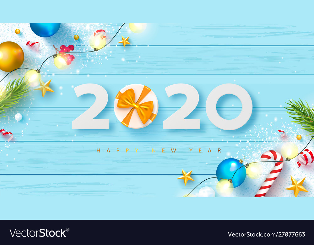 2020 happy new year bannerholiday background with