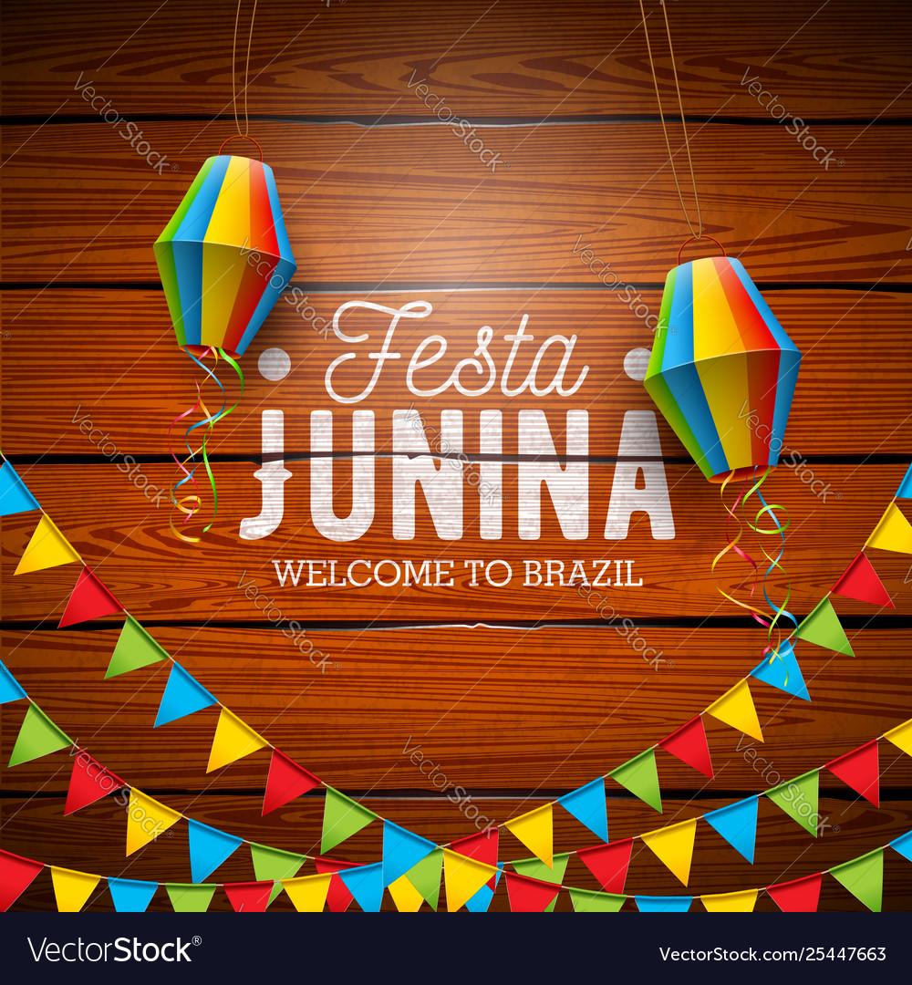 Festa Junina With Party Flags And