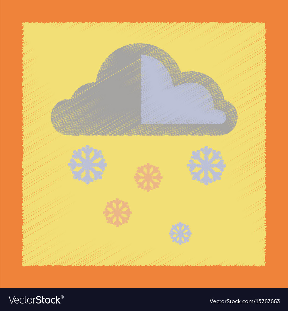 cloud and snow with rain icon