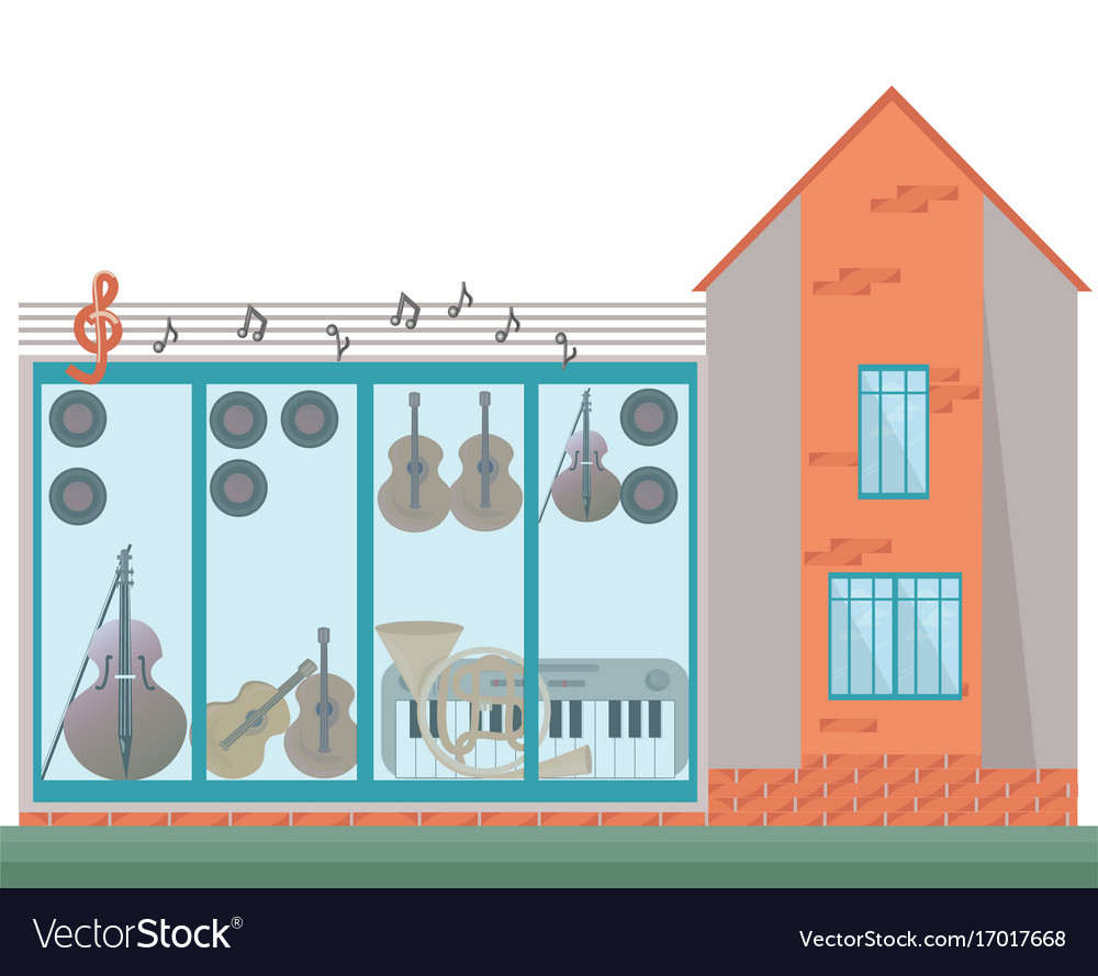 Architecture facade of a music house
